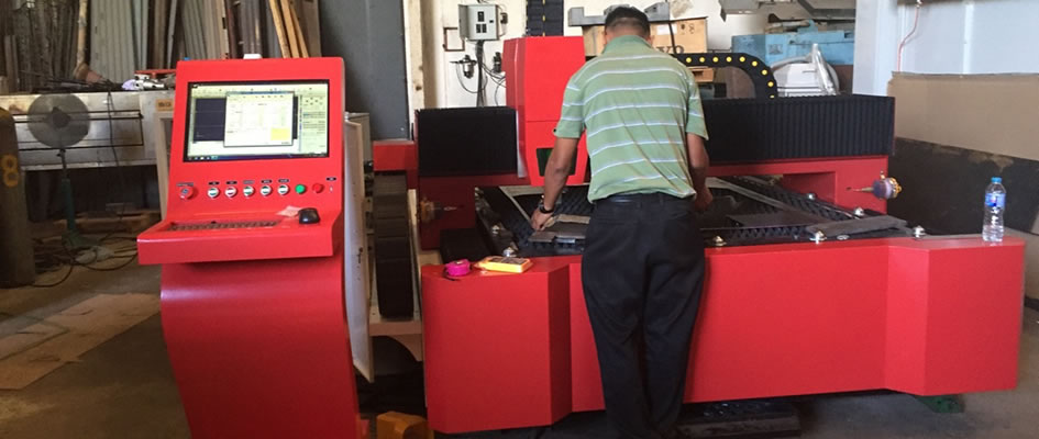 Machine at customer's factory in Thailand